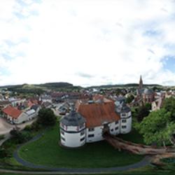 Hardheim Schloss/Obere Burg Vogelperspektive