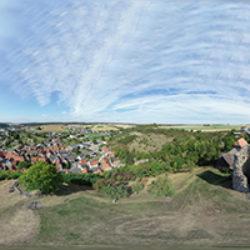 Vogelperspektive Burg Schweinberg