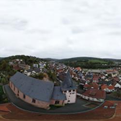 Wehrkirche Frammersbach Vogelperspektive