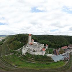 Burg Hornberg Vogelperspektive