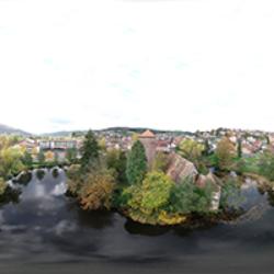 Wasserburg Burgsinn Vogelperspektive