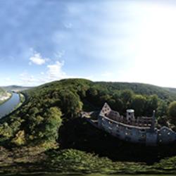 Ruine Schönrain Vogelperspektive