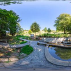 Wassertretanlage Gänsebrunnen Mespelbrunn